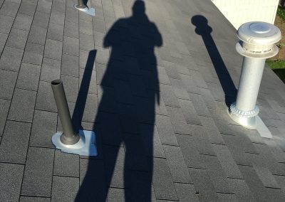 performing roof inspection